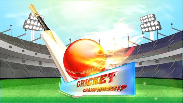 Sfondo di campionato di cricket.