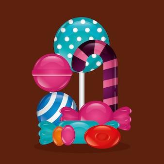 Sfondo di caramelle dolci