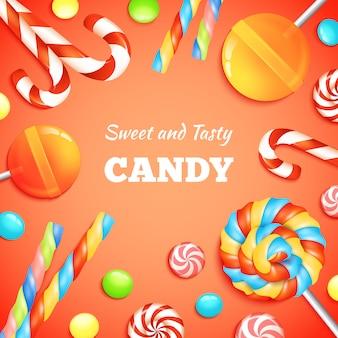 Sfondo di caramelle e caramelle