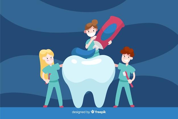Sfondo di caratteri dentista