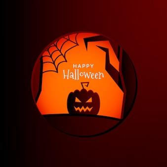Sfondo di carta cornice di halloween