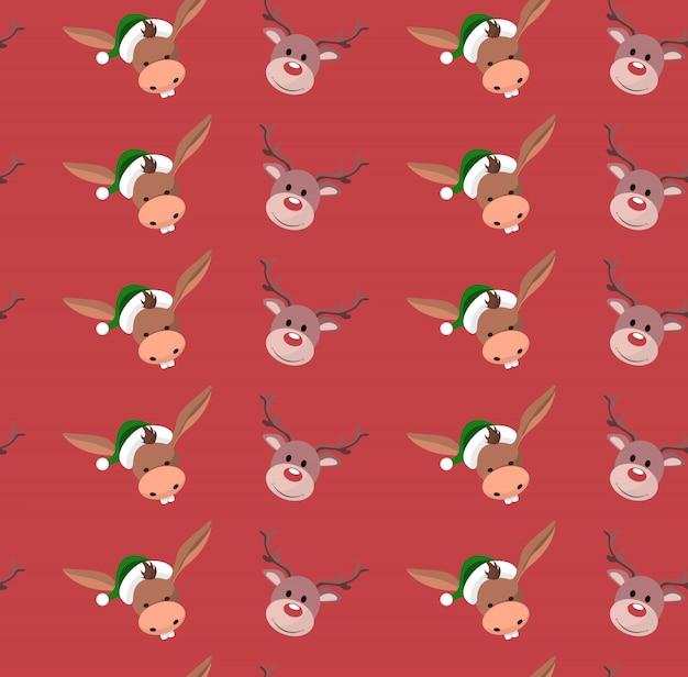 Sfondo di carta da imballaggio con caratteri natalizi