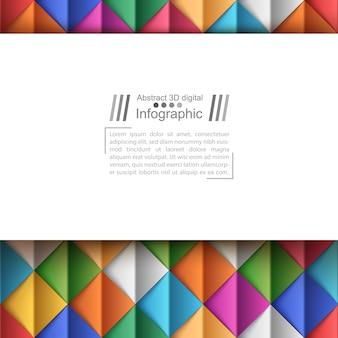 Sfondo di carta stile origami
