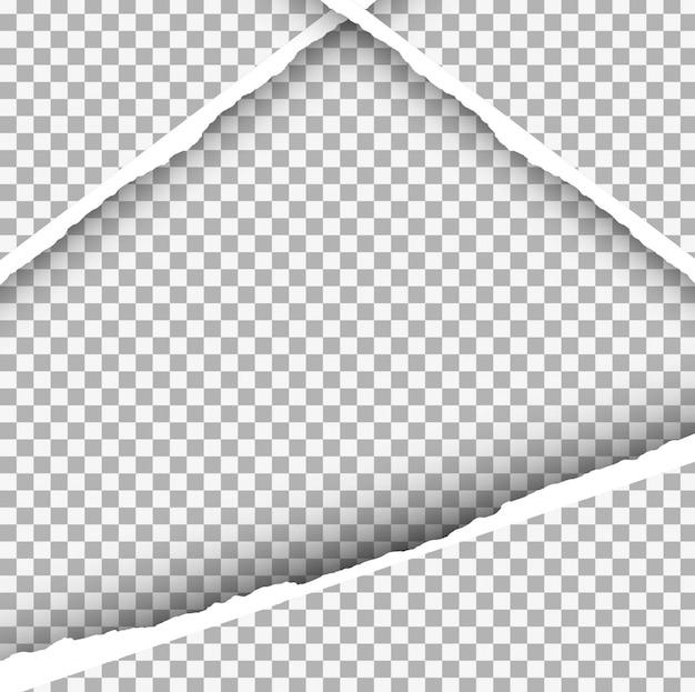 Sfondo di carta strappata