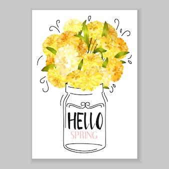 Sfondo di cartolina d'auguri di fiori