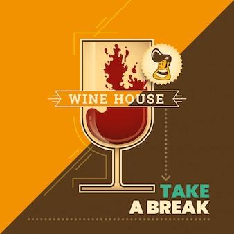 Sfondo di casa del vino
