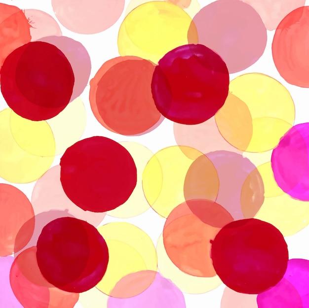 Sfondo di cerchi colorati acquerello moderno