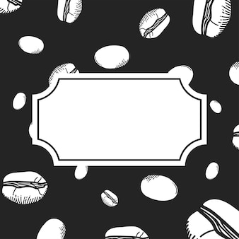 Sfondo di chicchi di caffè con spazio per il tema del testo