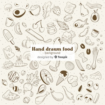 Sfondo di cibo disegnato a mano