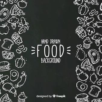 Sfondo di cibo lavagna