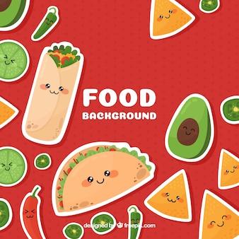 Sfondo di cibo messicano