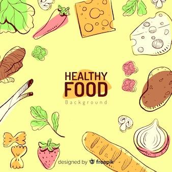 Sfondo di cibo sano