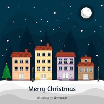 Sfondo di città di Natale