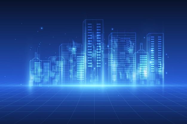 Sfondo di città digitale