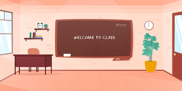 Sfondo di classe scuola vuota per videoconferenza