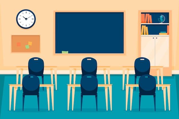 Sfondo di classe scuola vuota
