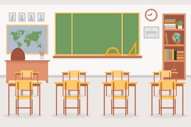 Sfondo di classe vuoto per videoconferenza