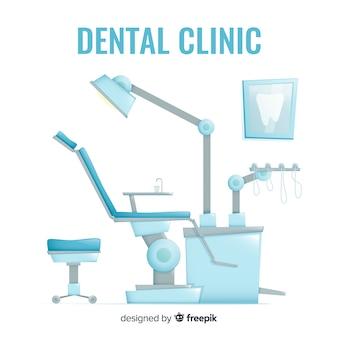 Sfondo di clinica dentistica piatta
