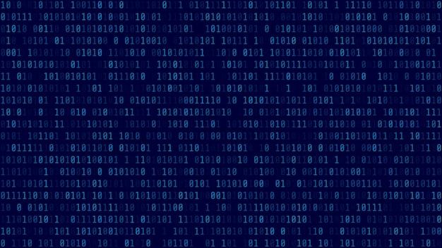 Sfondo di codice binario.
