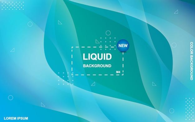 Sfondo di colore liquido. composizione di forme sfumate fluide.