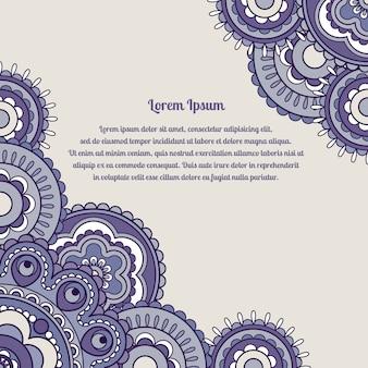 Sfondo di colore viola con ornamento rotondo