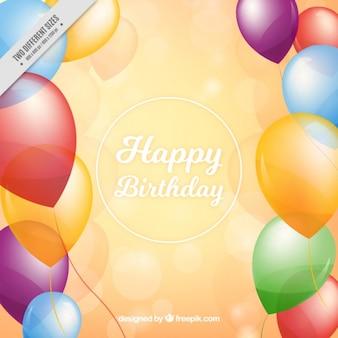 Sfondo di compleanno con i baloons