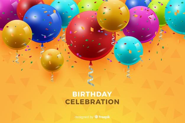 Sfondo di compleanno con palloncini