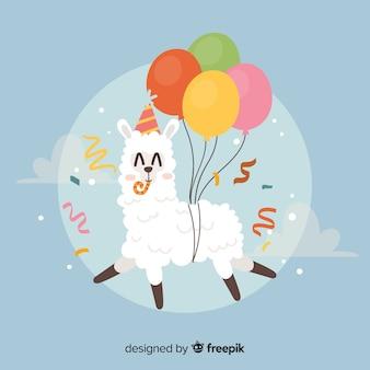 Sfondo di compleanno piatto animale
