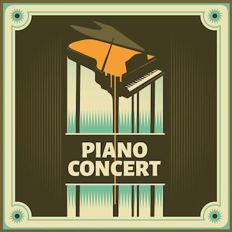 Sfondo di concerto di pianoforte
