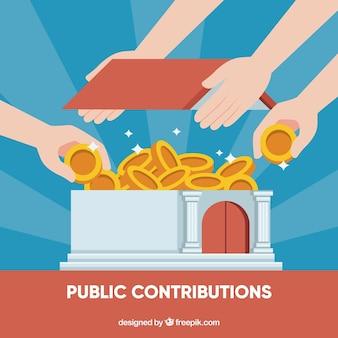 Sfondo di concetto di contributi pubblici