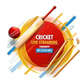 Sfondo di concetto di cricket.