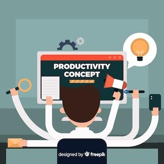 Sfondo di concetto di produttività