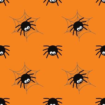 Sfondo di concetto di ragno di halloween per la notte del partito di halloween