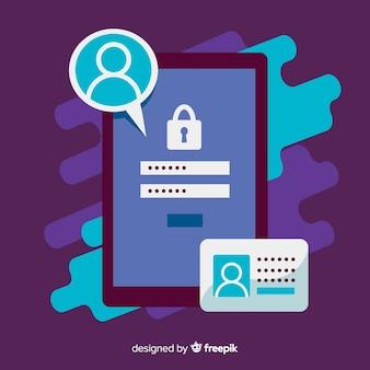 Sfondo di concetto di registrazione online