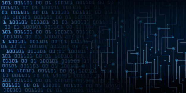 Sfondo di concetto di tecnologia cyber futuro blu
