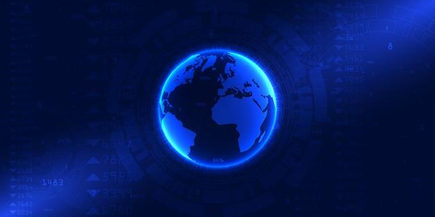 Sfondo di connessione mondo internet