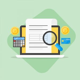 Sfondo di contabilità aziendale