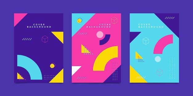 Sfondo di copertina geometrica di memphis