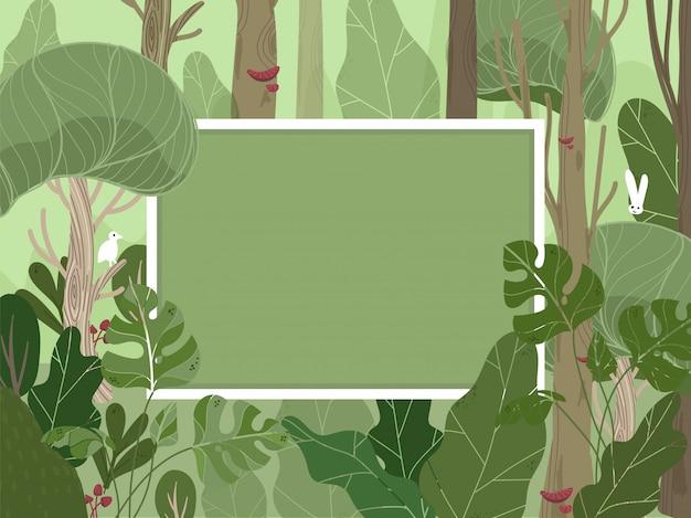 Sfondo di copertura foresta tropicale