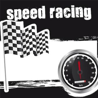 Sfondo di corse di velocità con spazio per la copia