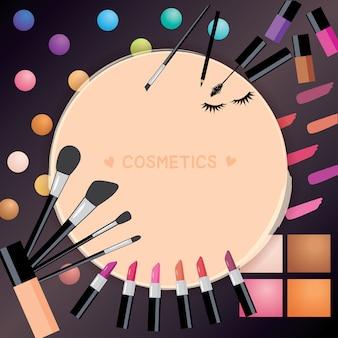 Sfondo di cosmetici