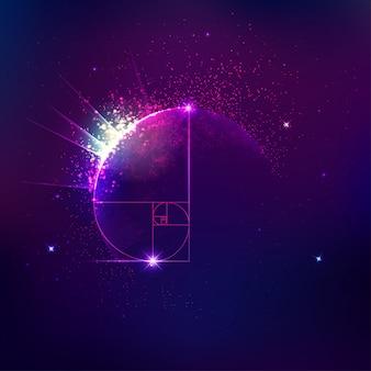 Sfondo di cosmologia o astronomia