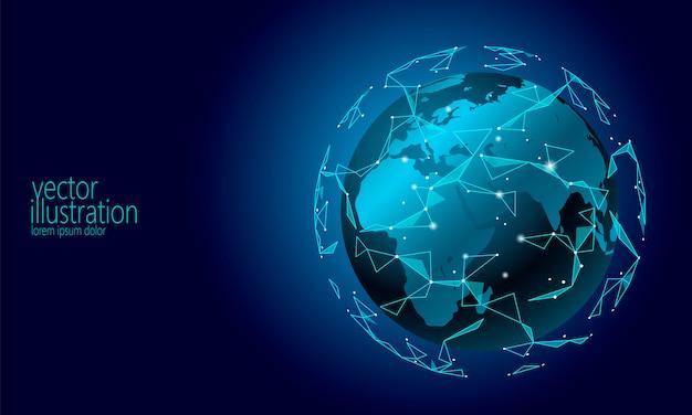 Sfondo di criptovaluta blockchain di scambio di informazioni di connessione internazionale globale