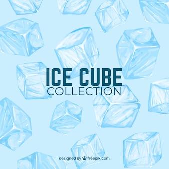 Sfondo di cubetti di ghiaccio