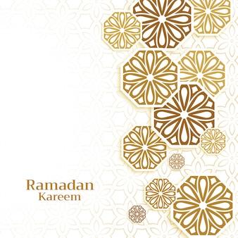 Sfondo di decorazione islamica per la stagione di ramadan kareem