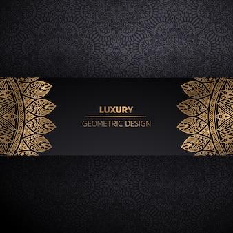 Sfondo di design di lusso mandala ornamentale in colore oro