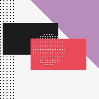 Sfondo di design in stile memphis