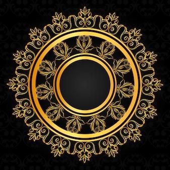 Sfondo di design ornamentale di lusso