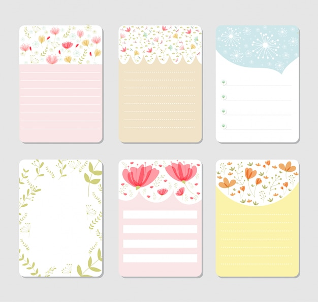 Sfondo di design per notebook set