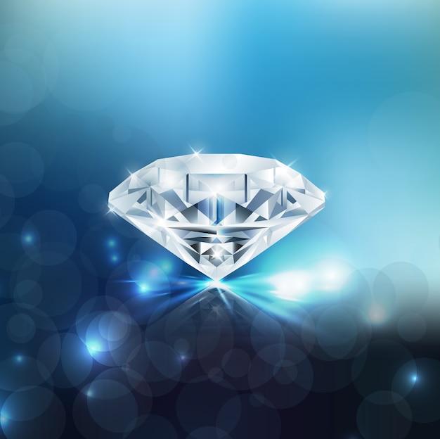 Sfondo di diamante lucido